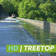 Narrowboat on Treetop Canal - VideoHive Item for Sale