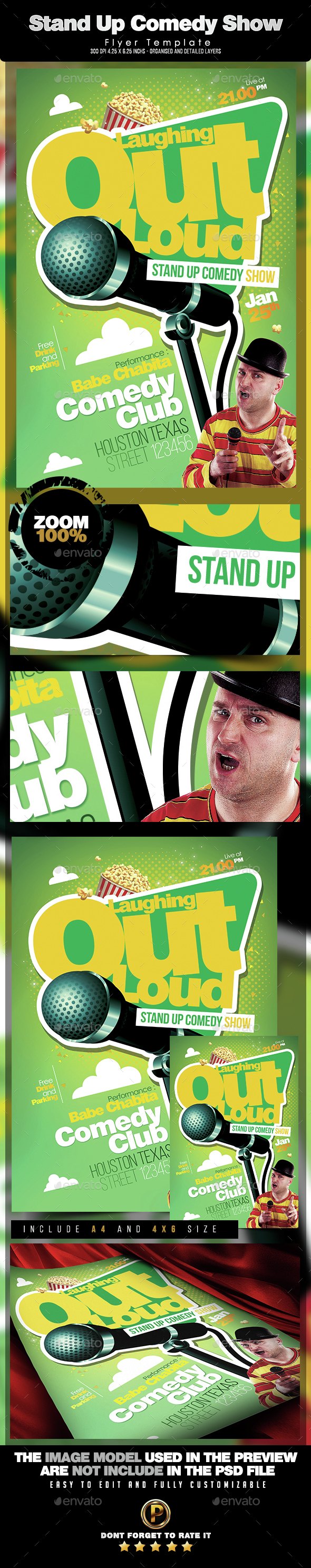 Stand Up Comedy Show Flyer Template - Events Flyers