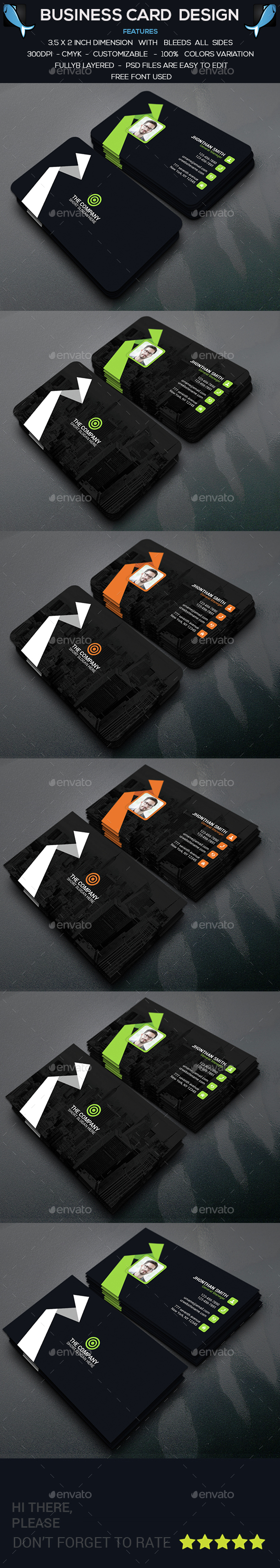 Creative Modern Business Card - Corporate Business Cards