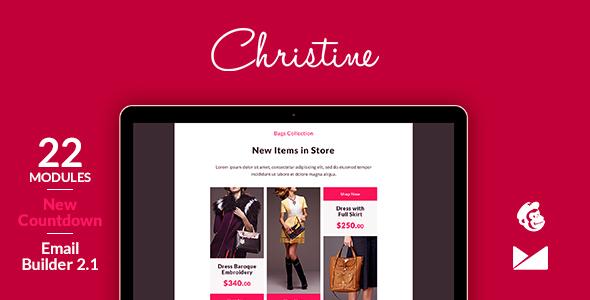 Christine Email Template + Online Emailbuilder 2.1