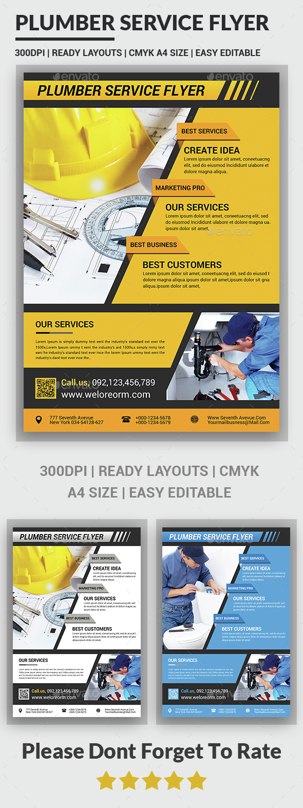 Plumber Service Flyers - Corporate Flyers