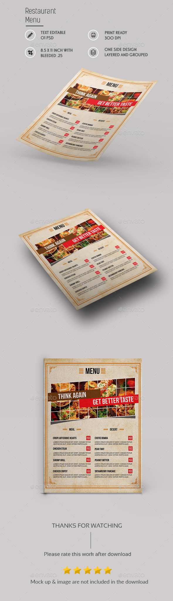 Restaurant Menu Template - Restaurant Flyers
