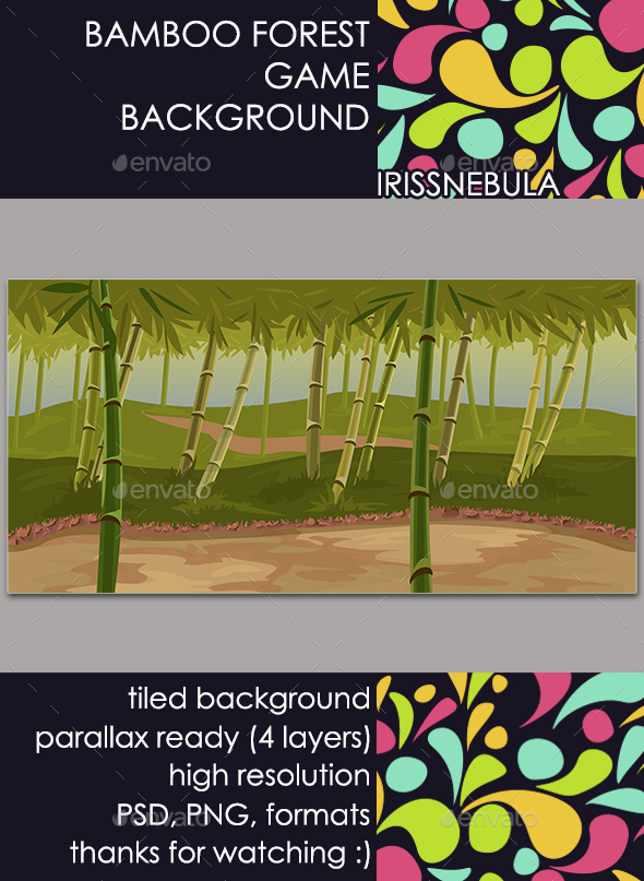 Bamboo Forest Game Background - Backgrounds Game Assets