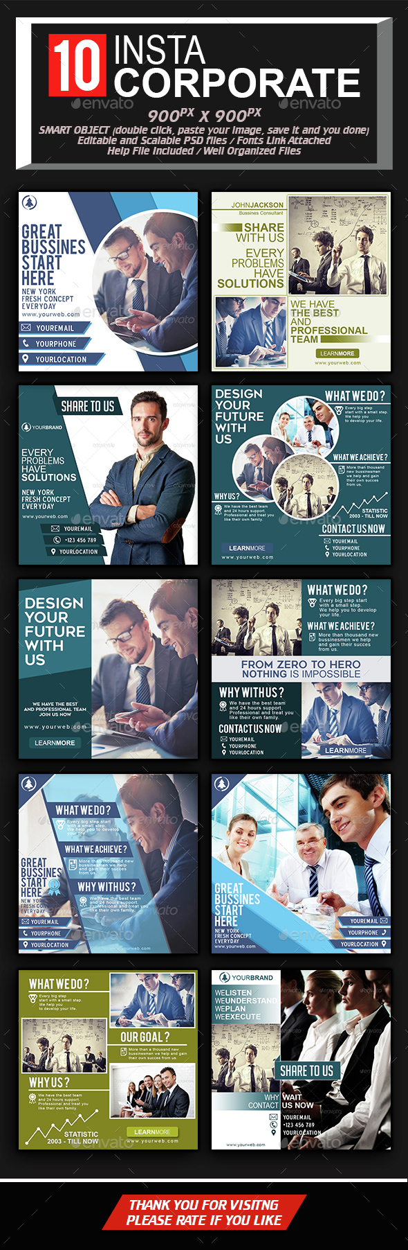 Instagram For Professional Corporate - Social Media Web Elements