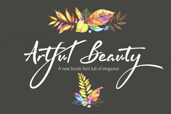 Artful Beauty Brush Font - Script Fonts