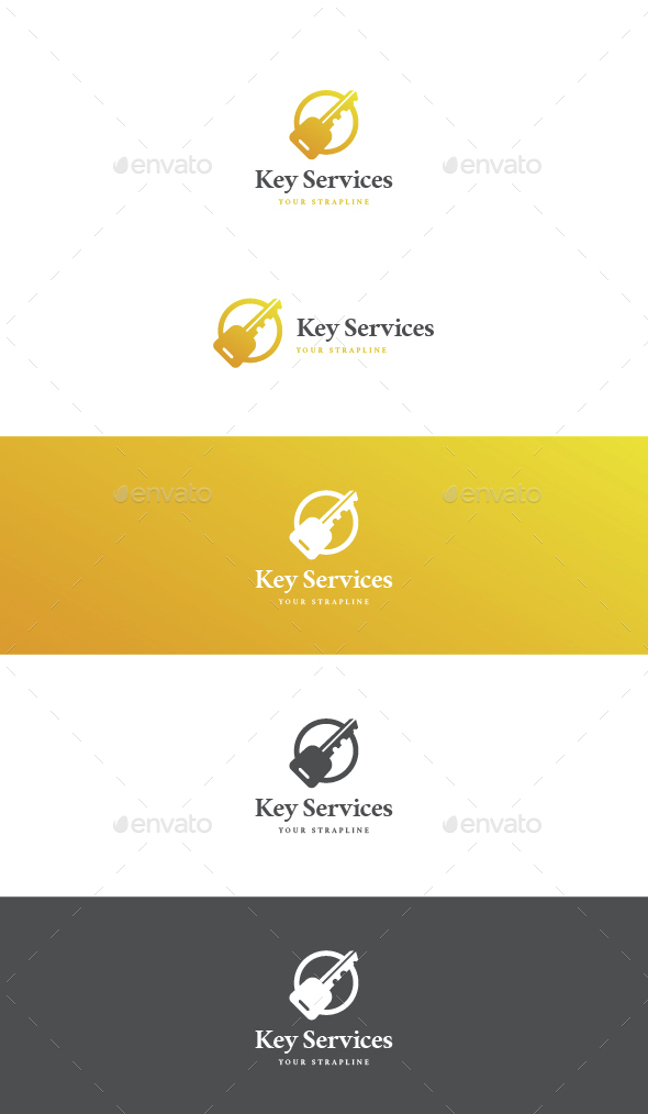 Key Services Logo - Objects Logo Templates