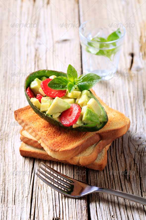 Avocado snack - Stock Photo - Images