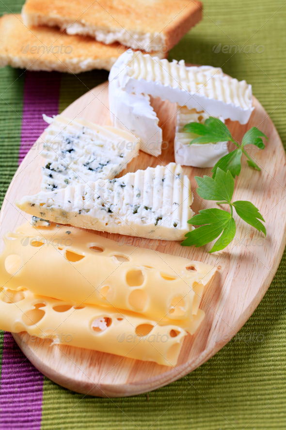 Variety of cheeses - Stock Photo - Images