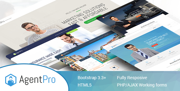 Agentpro – Exclusive Agents/Agency Landing Page HTML Template