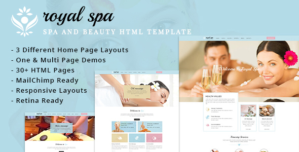 RoyalSpa – Spa and Beauty HTML Template
