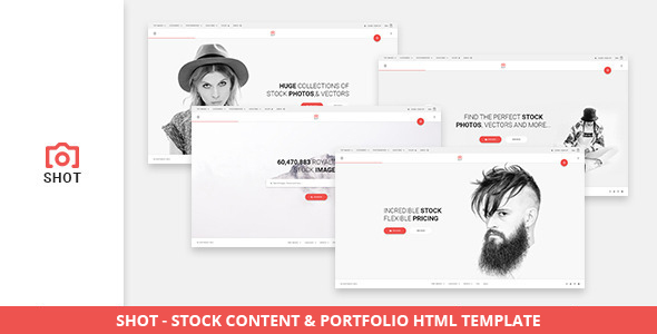 Shot - Stock Content & Portfolio HTML Template - Photo Gallery Personal