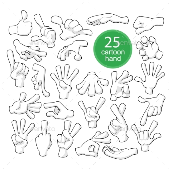 Comics Cartoon Hands - Miscellaneous Vectors