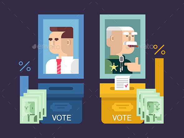 Concept Elections Design Flat - Miscellaneous Conceptual