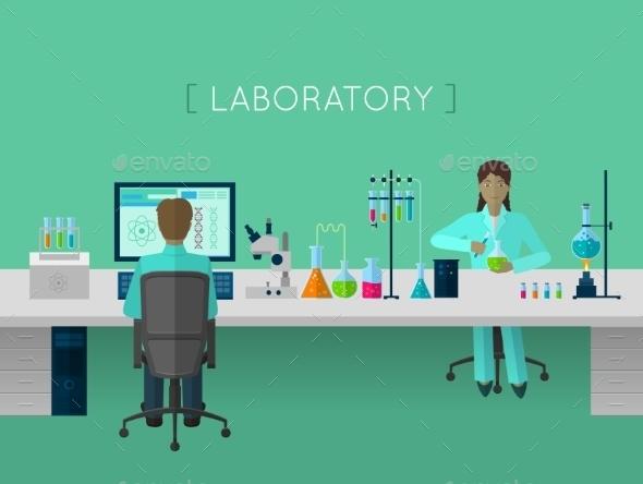 Laboratory Flat Concept - Miscellaneous Vectors