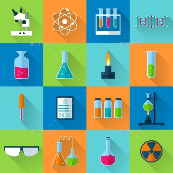 Laboratory Equipment Set - Miscellaneous Icons
