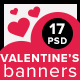 Valentine's Banners - GraphicRiver Item for Sale
