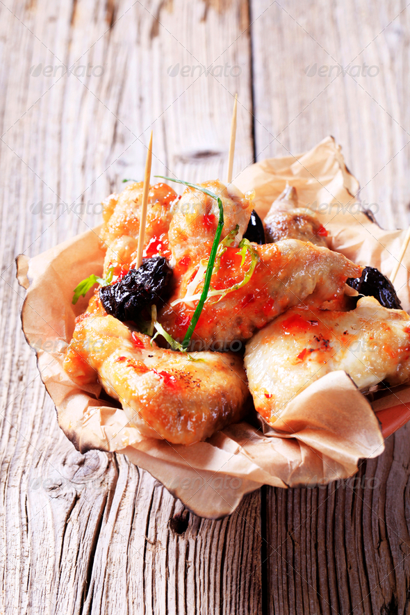 Marinated chicken wings - Stock Photo - Images