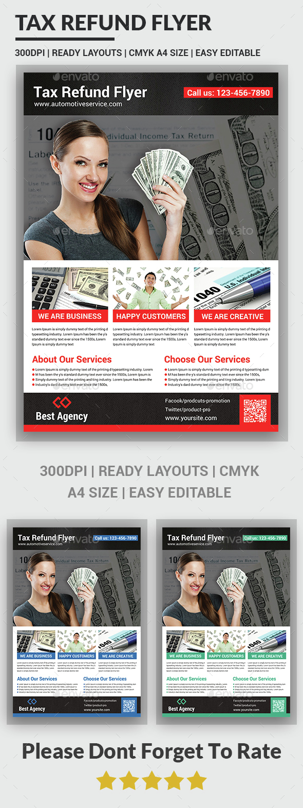 Tax Refund Flyer Template  - Corporate Flyers
