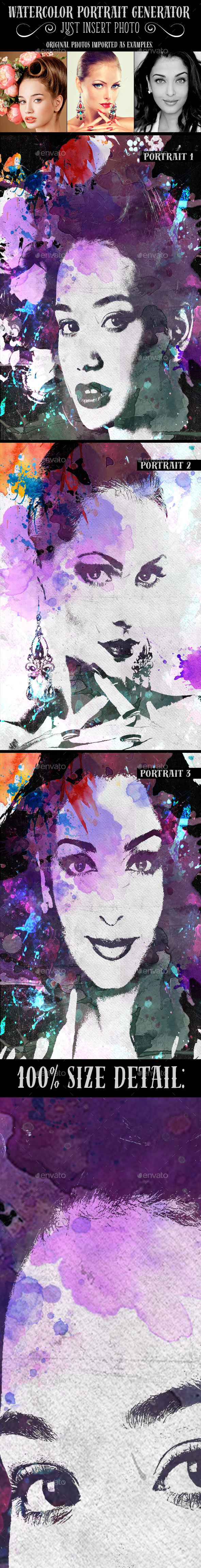 Watercolor Portrait Generator - Artistic Photo Templates