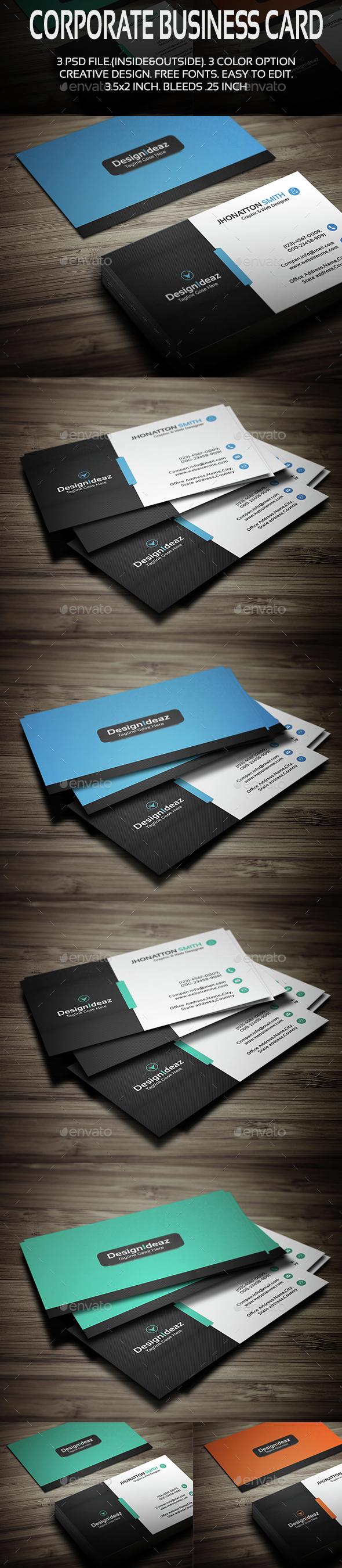Corporate Business Card V02 - Corporate Business Cards