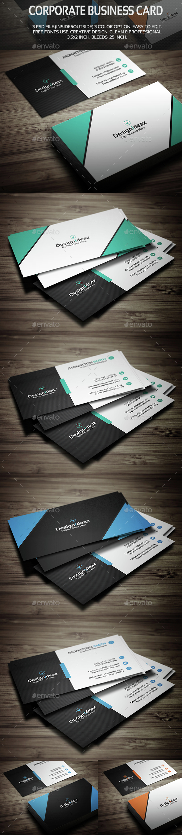 Corporate Business Card V03 - Corporate Business Cards