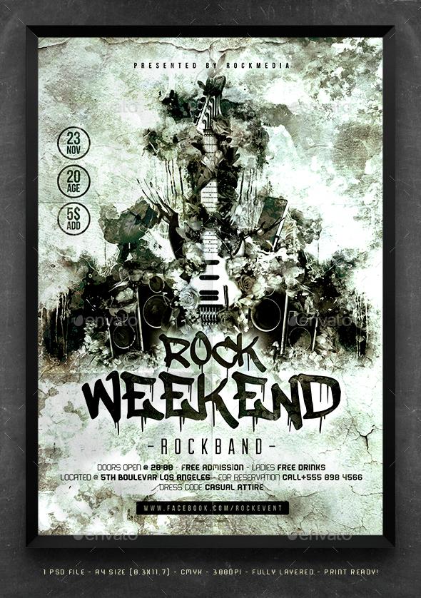 Alternative Rock Flyer Template - Concerts Events