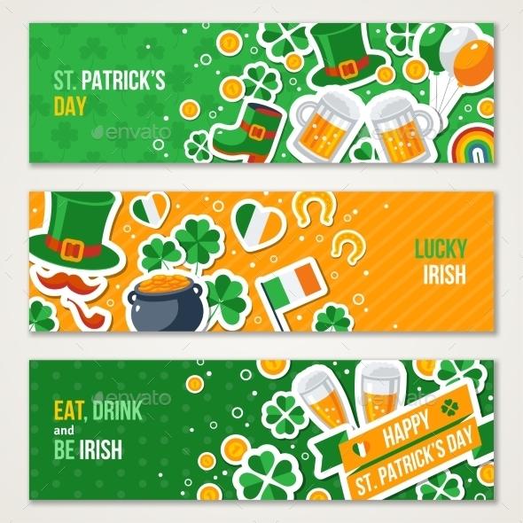 Horizontal Saint Patricks Day Banners Set - Miscellaneous Seasons/Holidays