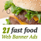 Fast Food Web Banner Ads - GraphicRiver Item for Sale