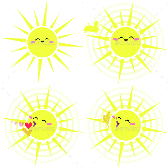 Shining Happy Yellow Sun Pack - Seasons Nature