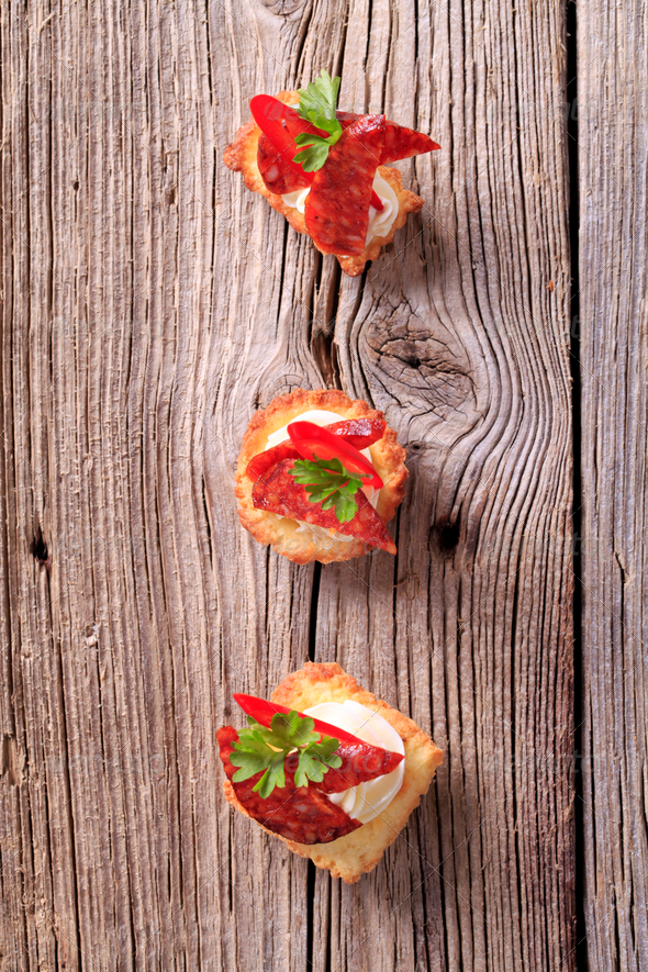 Tartlet canapes - Stock Photo - Images