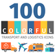 Transport And Logistics Colorful Icons - GraphicRiver Item for Sale
