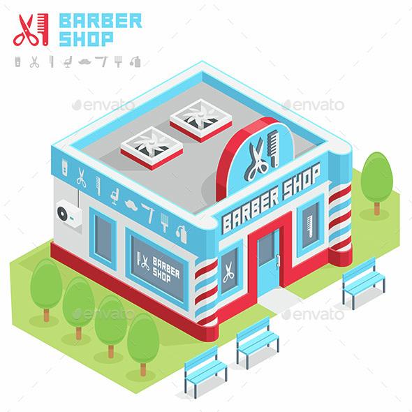 Barbershop Building - Buildings Objects