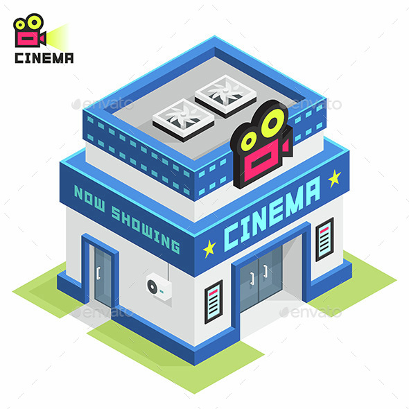 Cinema Building - Buildings Objects