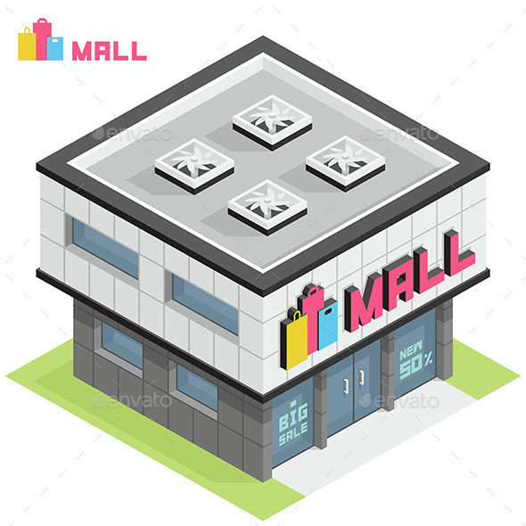 Shopping Mall Building - Buildings Objects