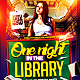 One Night in the Library - Back to School Flyer - GraphicRiver Item for Sale