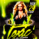 Toxic Night v2 Party Flyer Template - GraphicRiver Item for Sale
