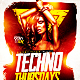 Techno Thursdays Party Flyer PSD Template - GraphicRiver Item for Sale