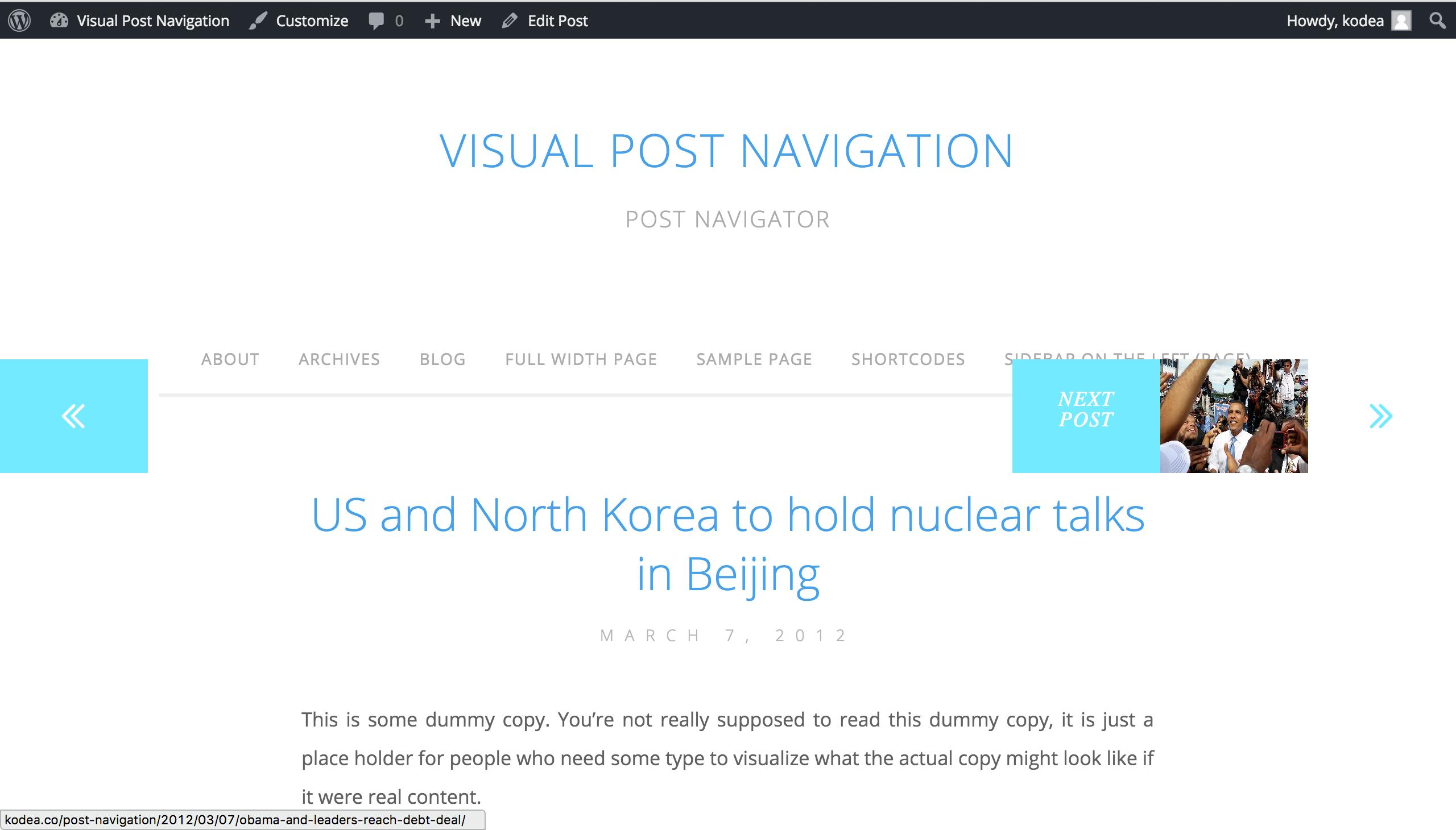 c02d8b06c848 Visual Post Navigation for WordPress by kodea