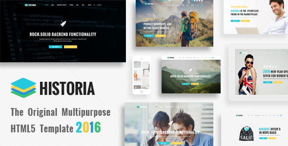 Historia – Responsive Multi-Purpose HTML Template