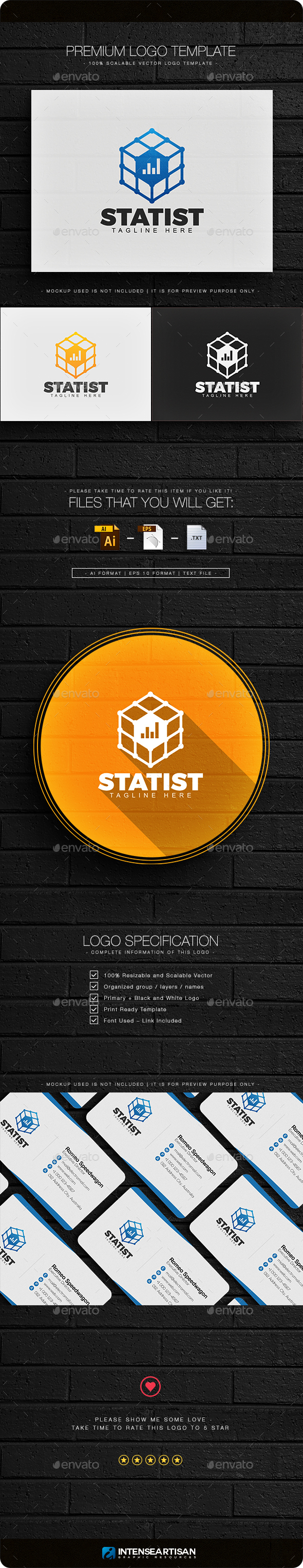 Statist Logo - Objects Logo Templates