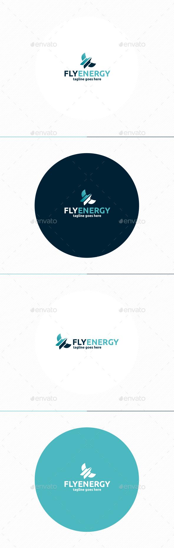 Fly Energy Logo - Animals Logo Templates