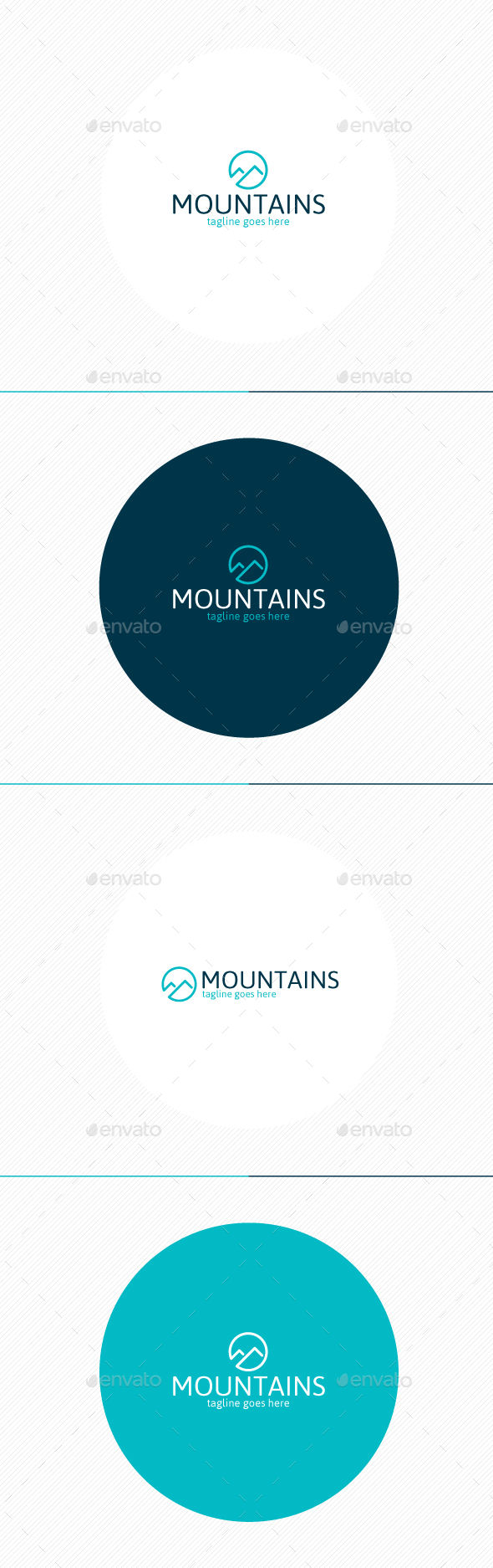 Mountains Logo  - Nature Logo Templates
