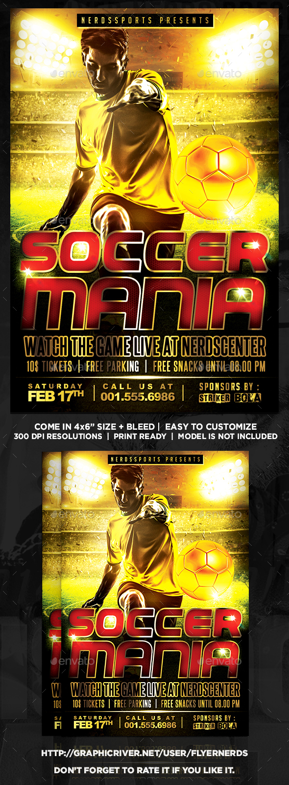 Soccer Mania Sports Flyer - Sports Events