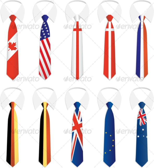 Nationality Tie 1 - Objects Illustrations