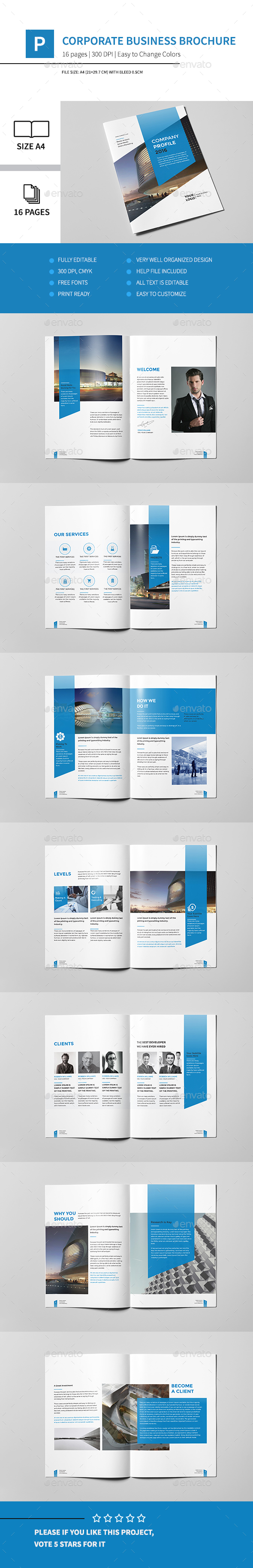 Corporate business brochure 16 pages a4 by pro gh graphicriver corporate business brochure 16 pages a4 accmission Gallery