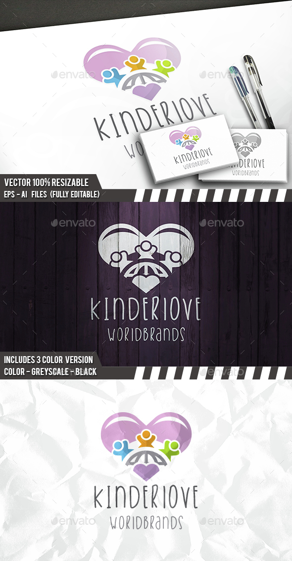 Kids Love Logo - Humans Logo Templates
