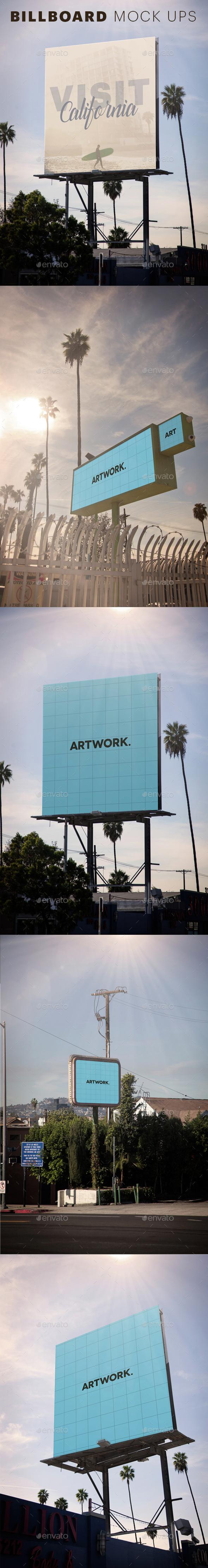 Cali Billboard Mock Ups - Product Mock-Ups Graphics