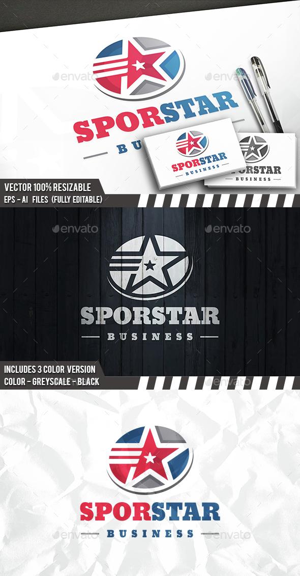 Sport Star Logo - 3d Abstract