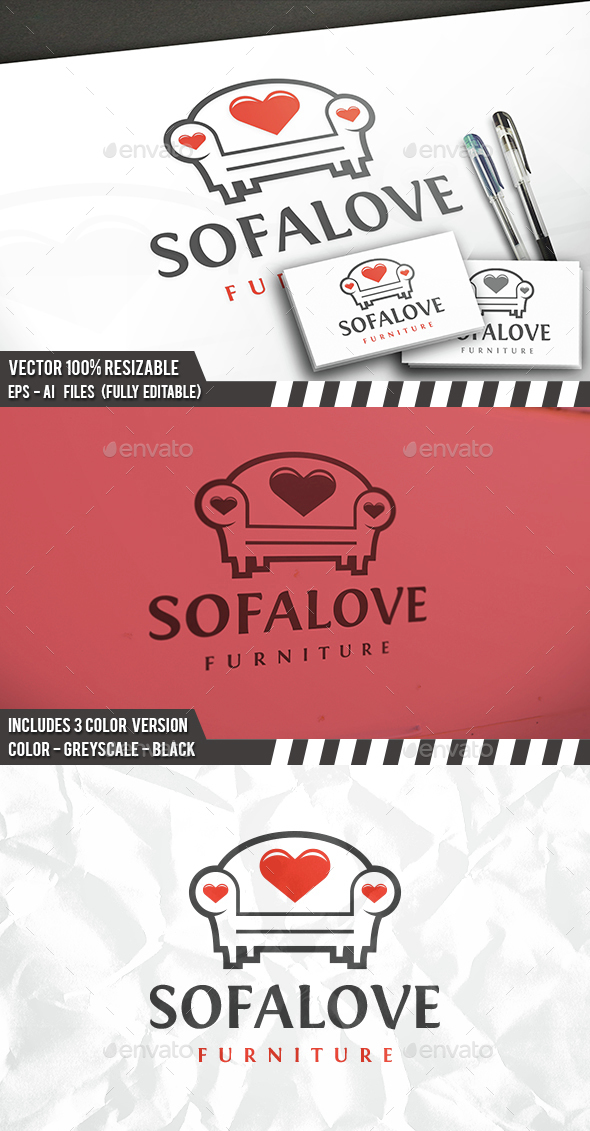 Furniture Love Logo - Objects Logo Templates