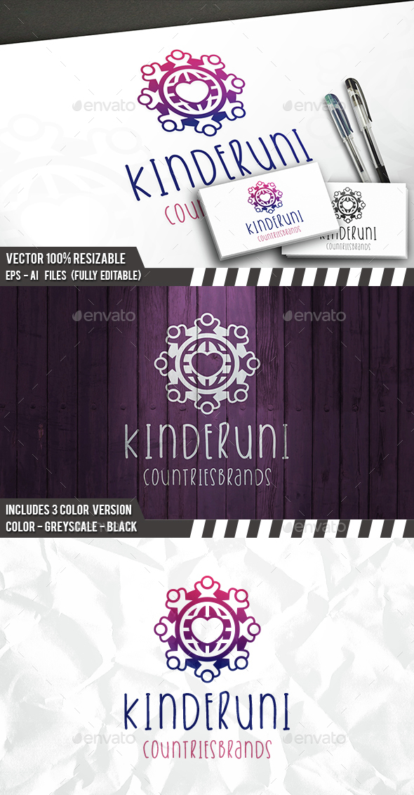 Globe Kids Logo - Humans Logo Templates